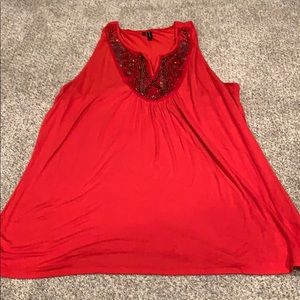 Maurices red/orange beaded tank